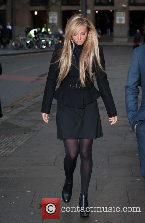 Tulisa Contostavlos appears at Southwark Crown Court