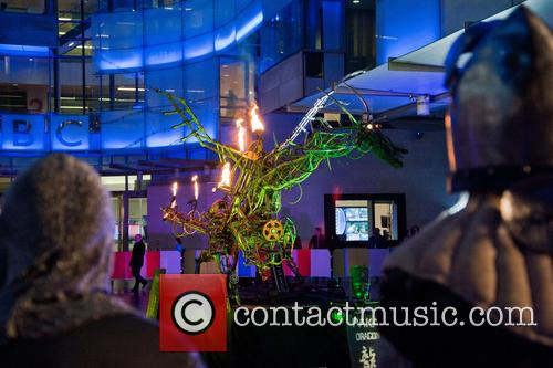 Fire breathing dragon on 'The One Show'