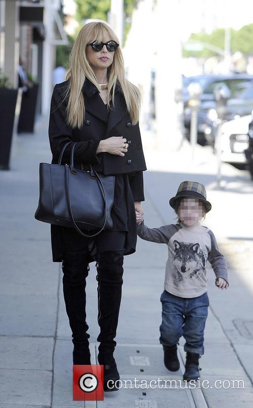 Rachel Zoe running errands with family