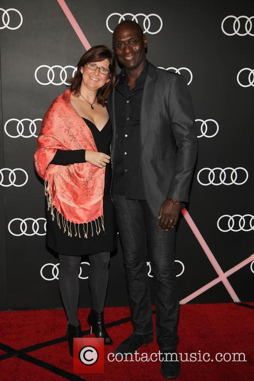 Lance Reddick and Stephanie Reddick