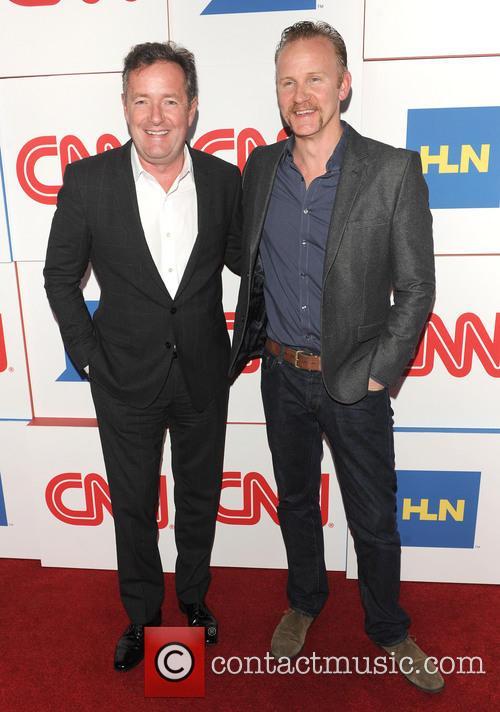 Piers Morgan and Morgan Spurlock 3