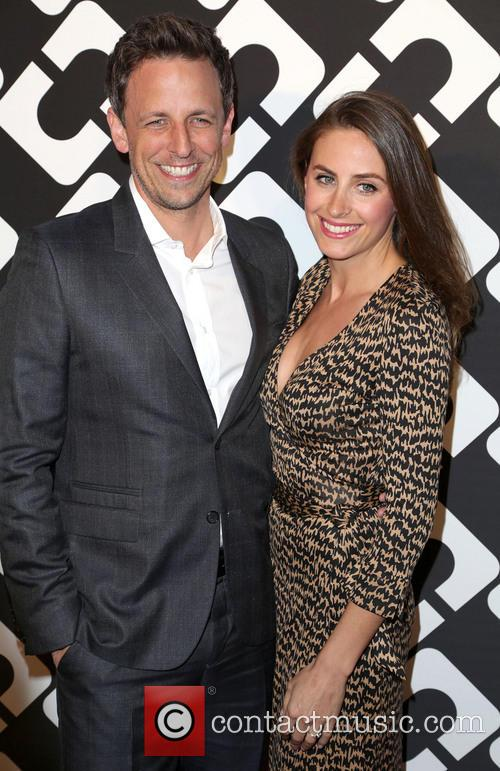 Seth Meyers and Alexi Ashe 3