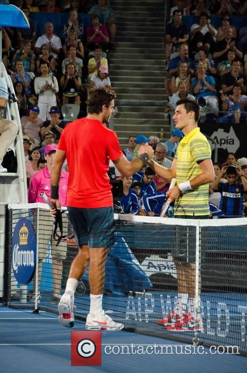 Tennis, Bernard Tomic and Juan Martin del Potro 2