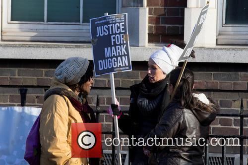 Vigil for Mark Duggan at Tottenham Police Station