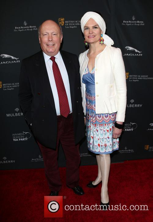 Julian Fellowes and Emma Joy Kitchener 1