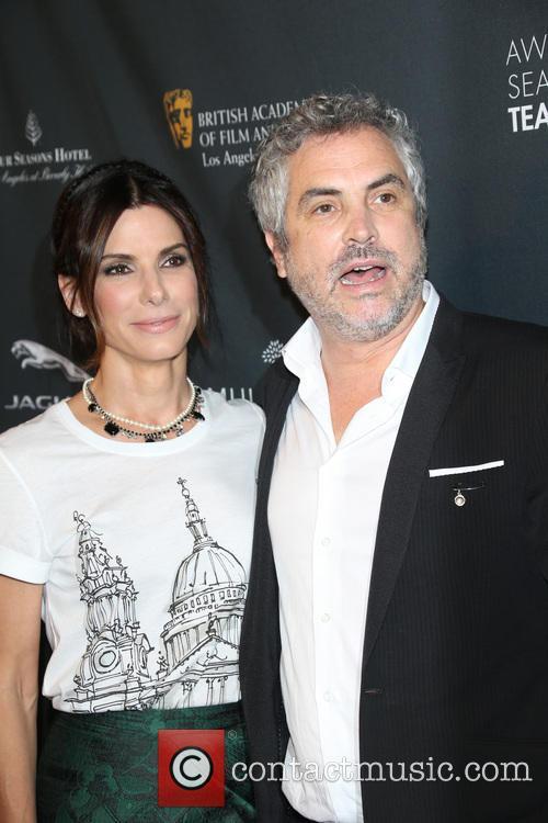 Sandra Bullock and Alfonso Cuaron 3
