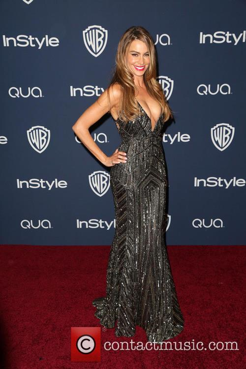 Sofia Vergara, Oasis Courtyard at the Beverly Hilton Hotel, Golden Globe Awards, Beverly Hilton Hotel