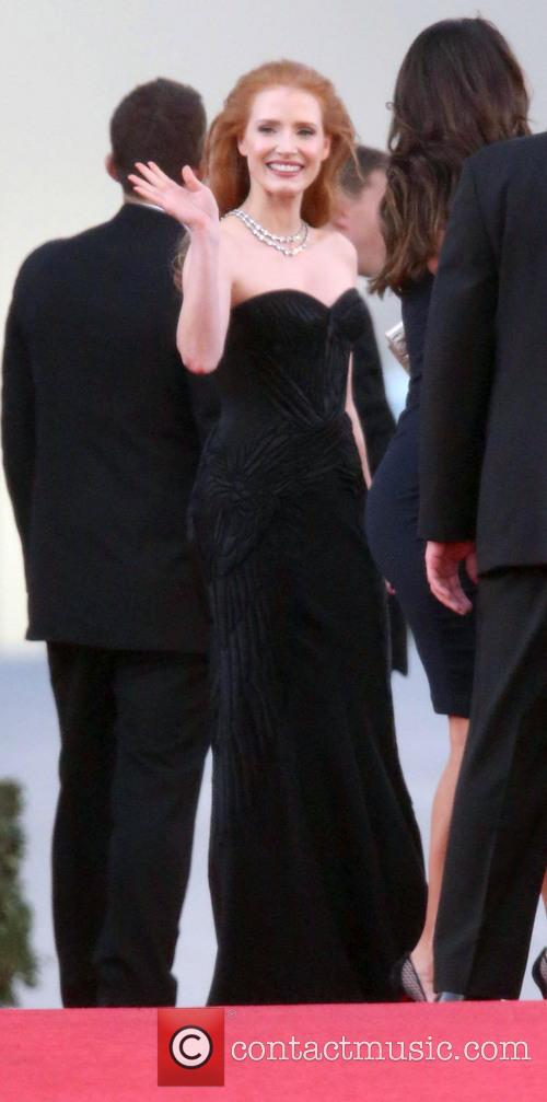 Jessica Chastain, Beverly Hills, Golden Globe Awards, Beverly Hilton Hotel