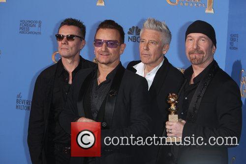 Larry Mullen Jr. (l-r), Bono, Adam Clayton and The Edge Of U2 4