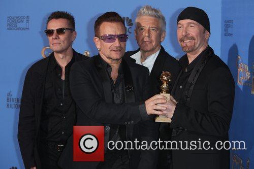 Larry Mullen Jr. (l-r), Bono, Adam Clayton and The Edge Of U2 1