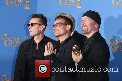 Larry Mullen Jr. (l-r), Bono and The Edge Of U2 2