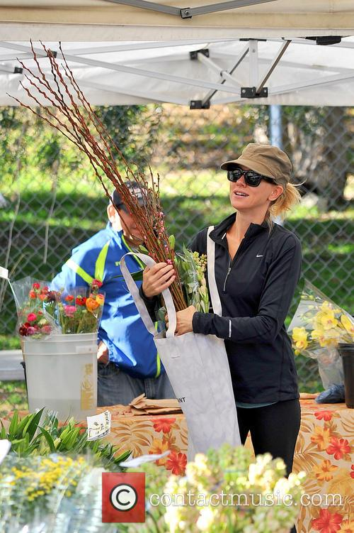 Naomi Watts visits a Farmer's Market