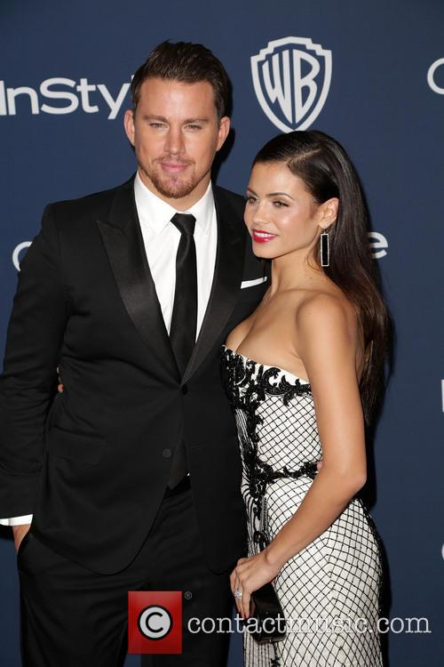 Channing Tatum, Jenna Dewan, Oasis Courtyard at the Beverly Hilton Hotel, Golden Globe Awards, Beverly Hilton Hotel