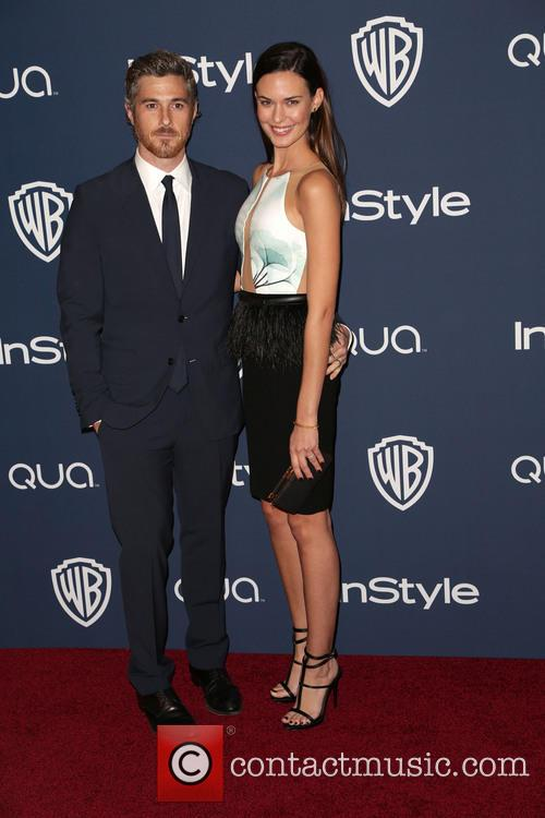 Dave Annabale, Odette Annable, Oasis Courtyard at the Beverly Hilton Hotel, Golden Globe Awards, Beverly Hilton Hotel