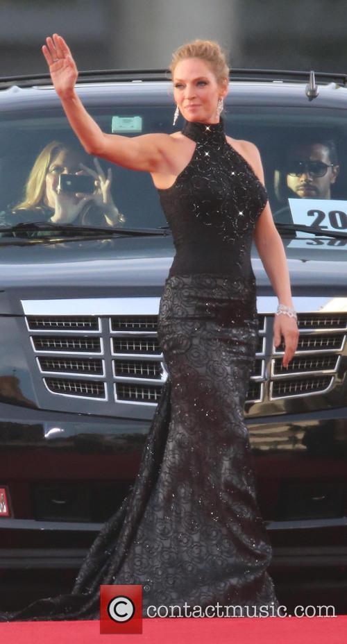 Uma Thurman, Beverly Hills, Golden Globe Awards, Beverly Hilton Hotel
