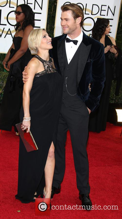 Chris Hemsworth and Elsa Pataky at the Golden Globes