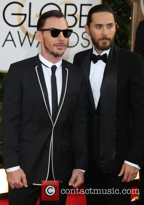 Jared Leto and brother Shannon Leto (l) 1
