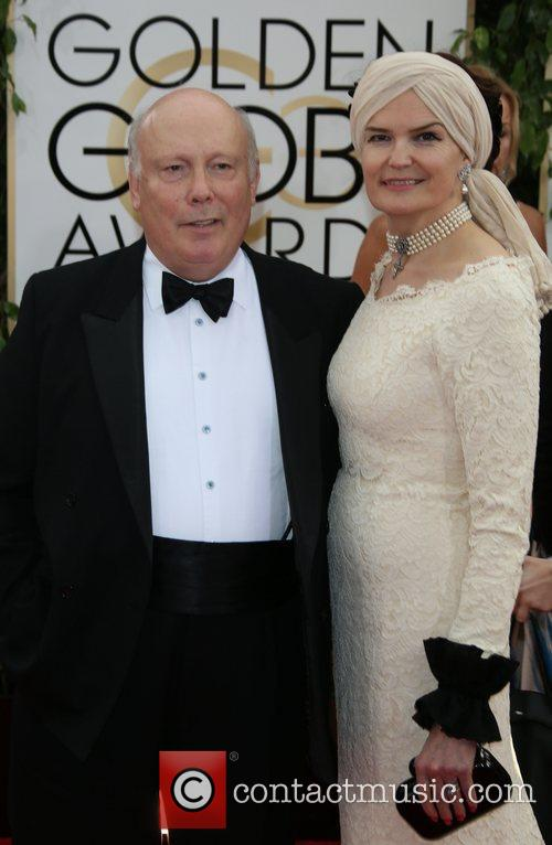Julian Fellowes and Emma Kitchener-fe