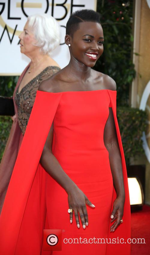 Lupita Nyong'o, Golden Globe Awards, Beverly Hilton Hotel