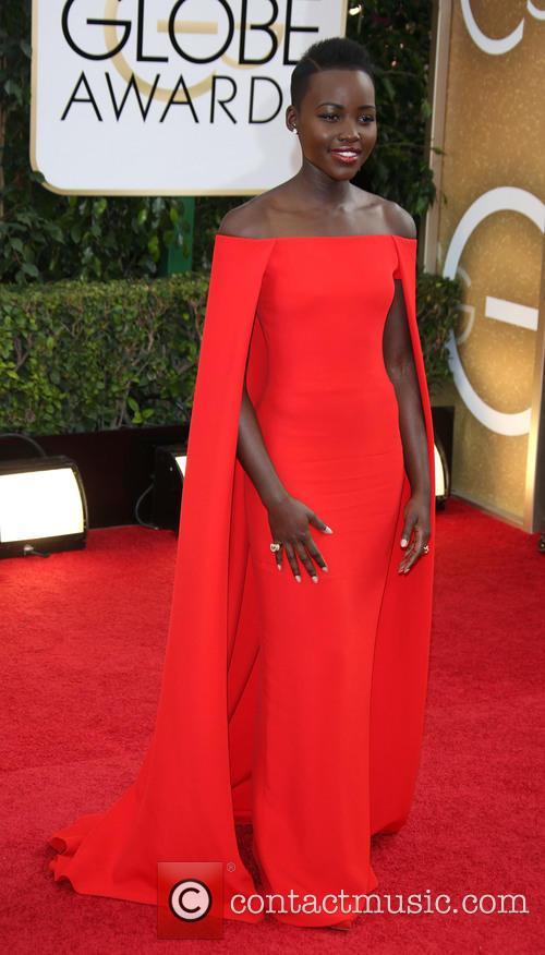 Lupita Nyong'o at the Golden Globe awards