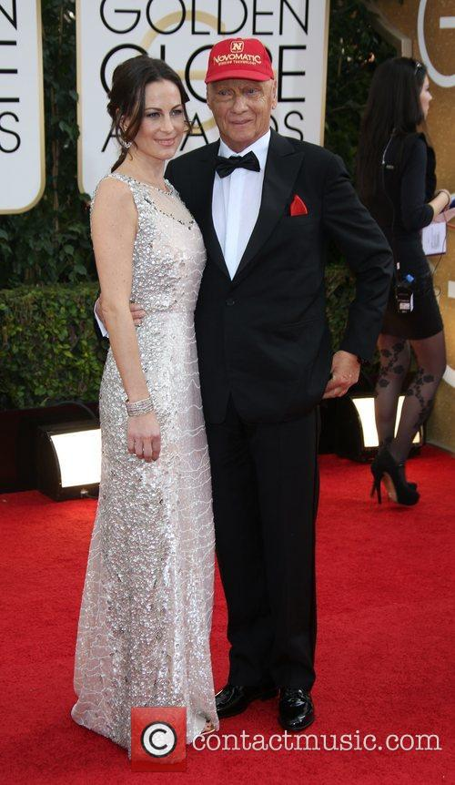 Niki Lauda, Birgit Wetzinger, Golden Globe Awards, Beverly Hilton Hotel