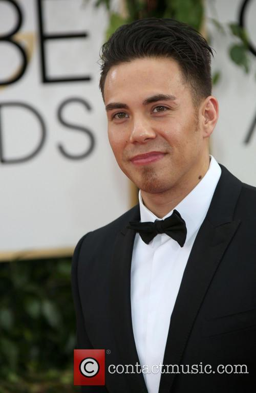 Olympic skater Apolo Ohno, Golden Globe Awards, Beverly Hilton Hotel