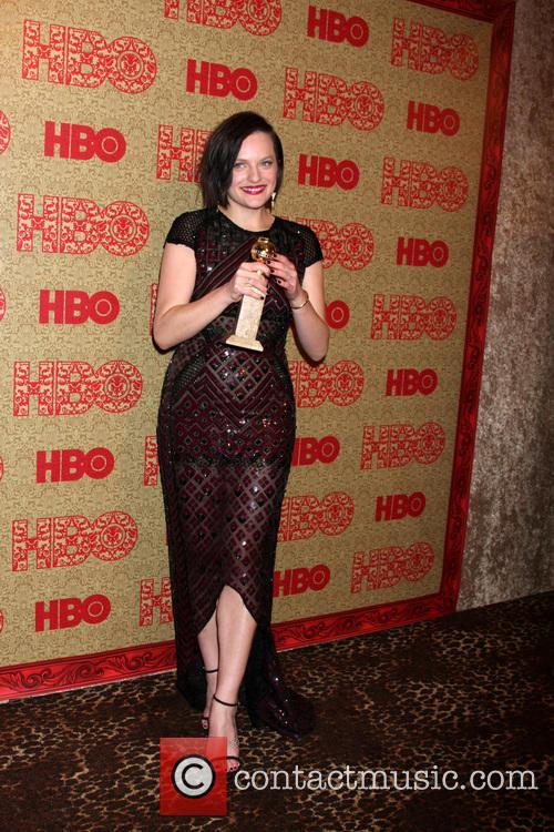 Elisabeth Moss, Beverly Hilton Hotel, Golden Globe Awards