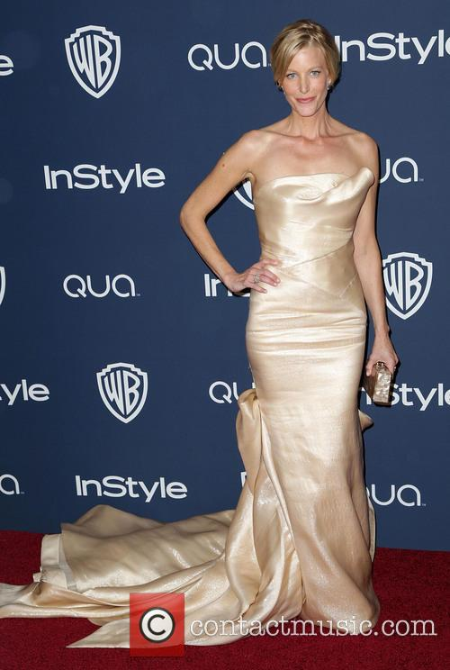 Anna Gunn, Oasis Courtyard at the Beverly Hilton Hotel, Golden Globe Awards, Beverly Hilton Hotel