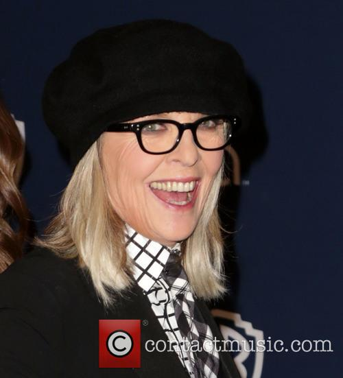 Diane Keaton, Oasis Courtyard at the Beverly Hilton Hotel, Golden Globe Awards, Beverly Hilton Hotel