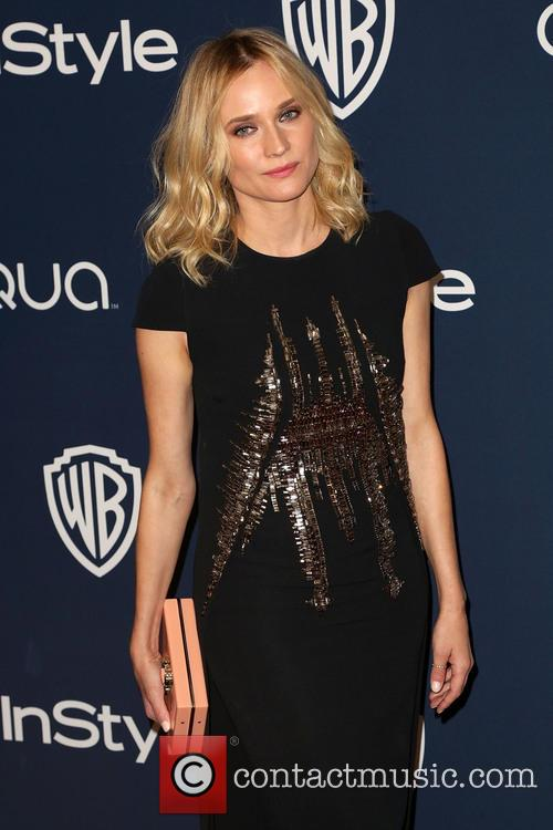 Diane Kruger, Oasis Courtyard at the Beverly Hilton Hotel, Golden Globe Awards, Beverly Hilton Hotel