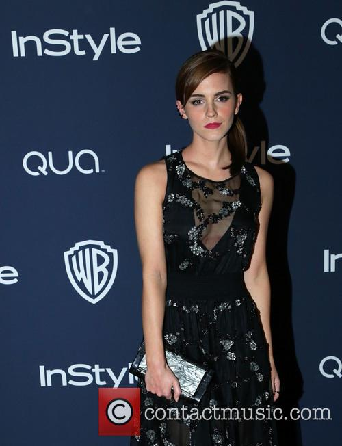 Emma Watson, Oasis Courtyard at the Beverly Hilton Hotel, Golden Globe Awards, Beverly Hilton Hotel