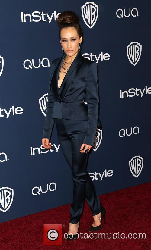 Maggie Q, Oasis Courtyard at the Beverly Hilton Hotel, Golden Globe Awards, Beverly Hilton Hotel