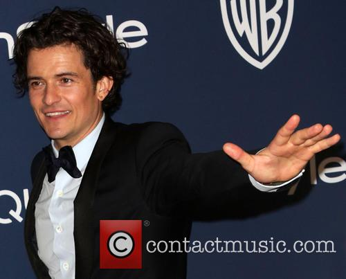 Orlando Bloom, Oasis Courtyard at the Beverly Hilton Hotel, Golden Globe Awards, Beverly Hilton Hotel