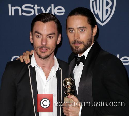 Shannon Leto, Jared Leto, Oasis Courtyard at the Beverly Hilton Hotel, Golden Globe Awards, Beverly Hilton Hotel
