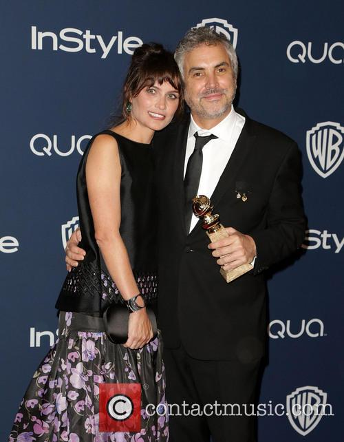 Sheherazade Goldsmith and Alfonso Cuaron 3