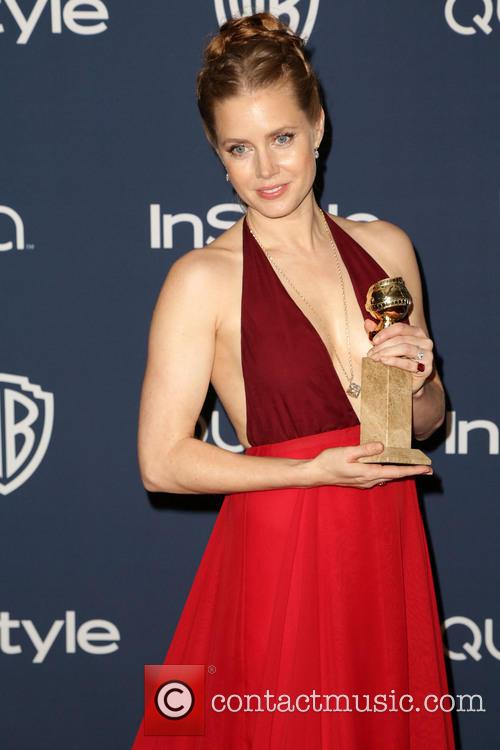 Amy Adams, Oasis Courtyard at the Beverly Hilton Hotel, Golden Globe Awards, Beverly Hilton Hotel