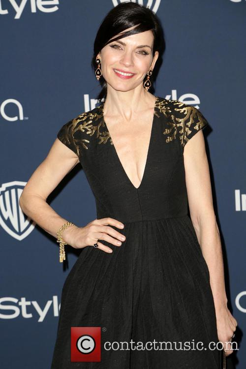 Julianna Margulies, Oasis Courtyard at the Beverly Hilton Hotel, Golden Globe Awards, Beverly Hilton Hotel