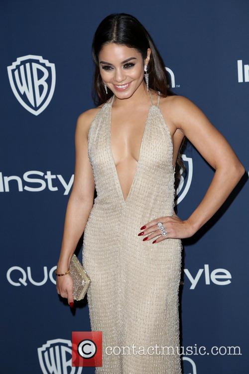 Vanessa Hudgens, Oasis Courtyard at the Beverly Hilton Hotel, Golden Globe Awards, Beverly Hilton Hotel