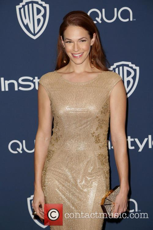 Amanda Righetti, Oasis Courtyard at the Beverly Hilton Hotel, Golden Globe Awards, Beverly Hilton Hotel