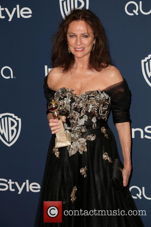 Jacqueline Bisset, Oasis Courtyard at the Beverly Hilton Hotel, Golden Globe Awards, Beverly Hilton Hotel