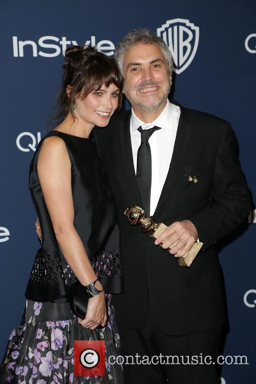 Sheherazade Goldsmith and Alfonso Cuaron 1