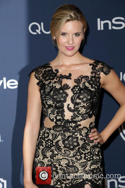 Maggie Grace, Oasis Courtyard at the Beverly Hilton Hotel, Golden Globe Awards, Beverly Hilton Hotel