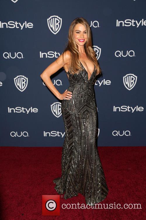 Sofia Vergara, Oasis Courtyard at the Beverly Hilton Hotel, Golden Globe Awards, Beverly Hilton Hotel
