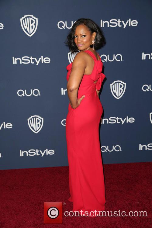 Garcelle Beauvais, Oasis Courtyard at the Beverly Hilton Hotel, Golden Globe Awards, Beverly Hilton Hotel