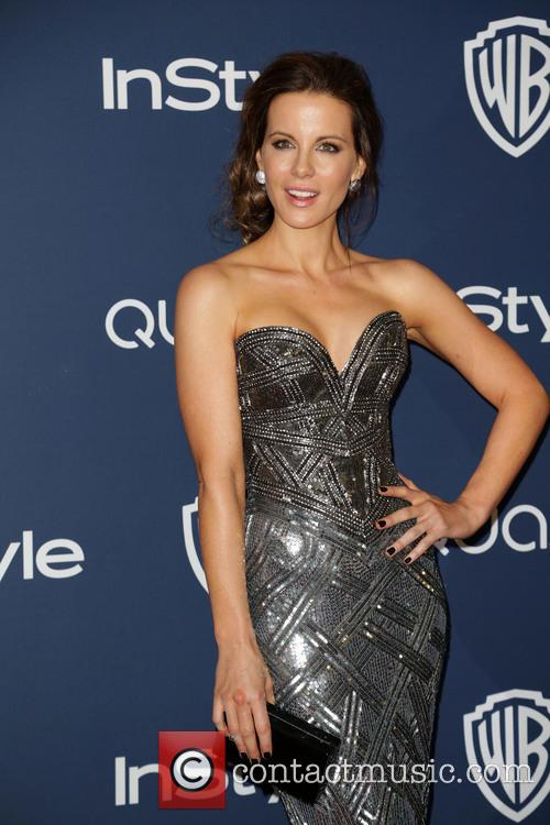 Kate Beckinsale, Oasis Courtyard at the Beverly Hilton Hotel, Golden Globe Awards, Beverly Hilton Hotel