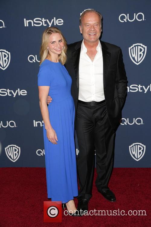 Kayte Walsh, Kelsey Grammer, Oasis Courtyard at the Beverly Hilton Hotel, Golden Globe Awards, Beverly Hilton Hotel