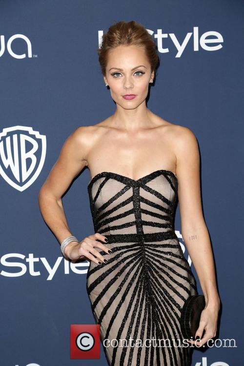 Laura Vandervoort, Oasis Courtyard at the Beverly Hilton Hotel, Golden Globe Awards, Beverly Hilton Hotel