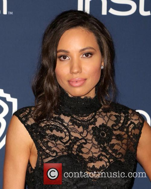 Jurnee Smollett, Oasis Courtyard at the Beverly Hilton Hotel, Golden Globe Awards, Beverly Hilton Hotel