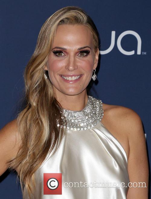 Molly Sims, Oasis Courtyard at the Beverly Hilton Hotel, Golden Globe Awards, Beverly Hilton Hotel