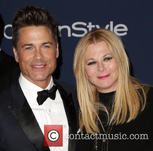 Rob Lowe, Sheryl Berkoff, Oasis Courtyard at the Beverly Hilton Hotel, Golden Globe Awards, Beverly Hilton Hotel
